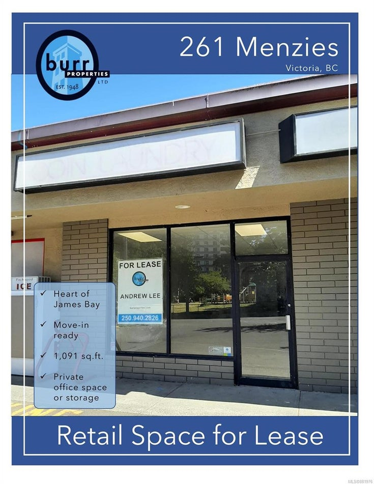 261 Menzies St - Vi James Bay Retail for sale(881976)