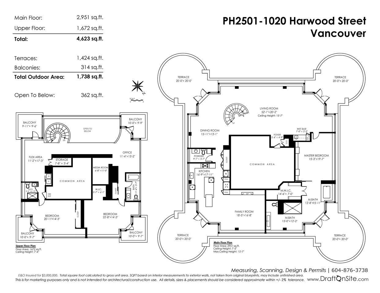 PH2501 1020 HARWOOD STREET - West End VW Apartment/Condo for sale, 3 Bedrooms (R2336832) - #20