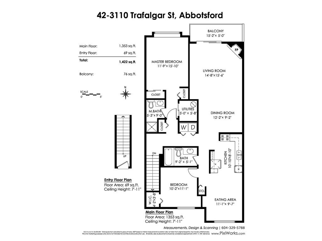 42 3110 TRAFALGAR STREET - Central Abbotsford Townhouse for sale, 2 Bedrooms (R2419327) - #18