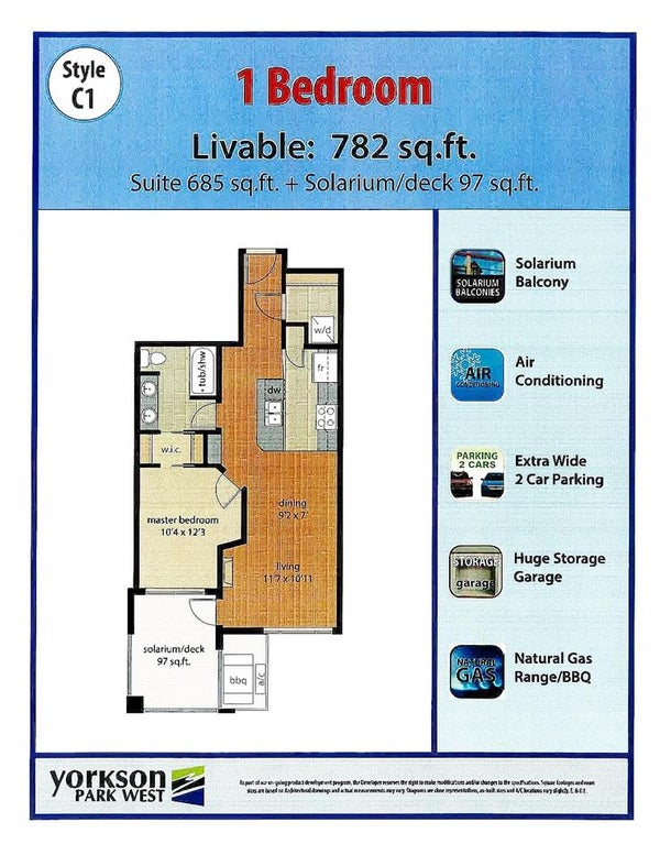 509 20290 86 AVENUE - Willoughby Heights Apartment/Condo for sale, 1 Bedroom (R2422870)