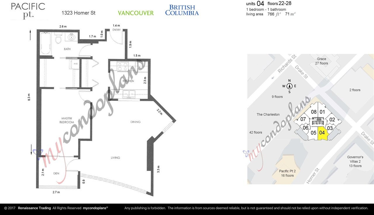2704 1323 HOMER STREET - Yaletown Apartment/Condo for sale, 1 Bedroom (R2456582) - #8