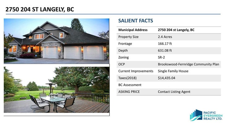 2750 204 STREET - Brookswood Langley House with Acreage for sale, 5 Bedrooms (R2461977)
