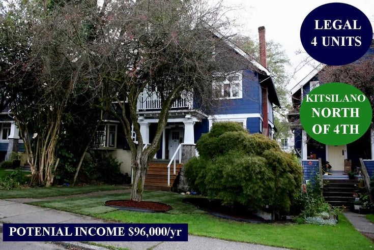 3624 W 3RD AVENUE - Kitsilano House/Single Family for sale, 5 Bedrooms (R2463734)