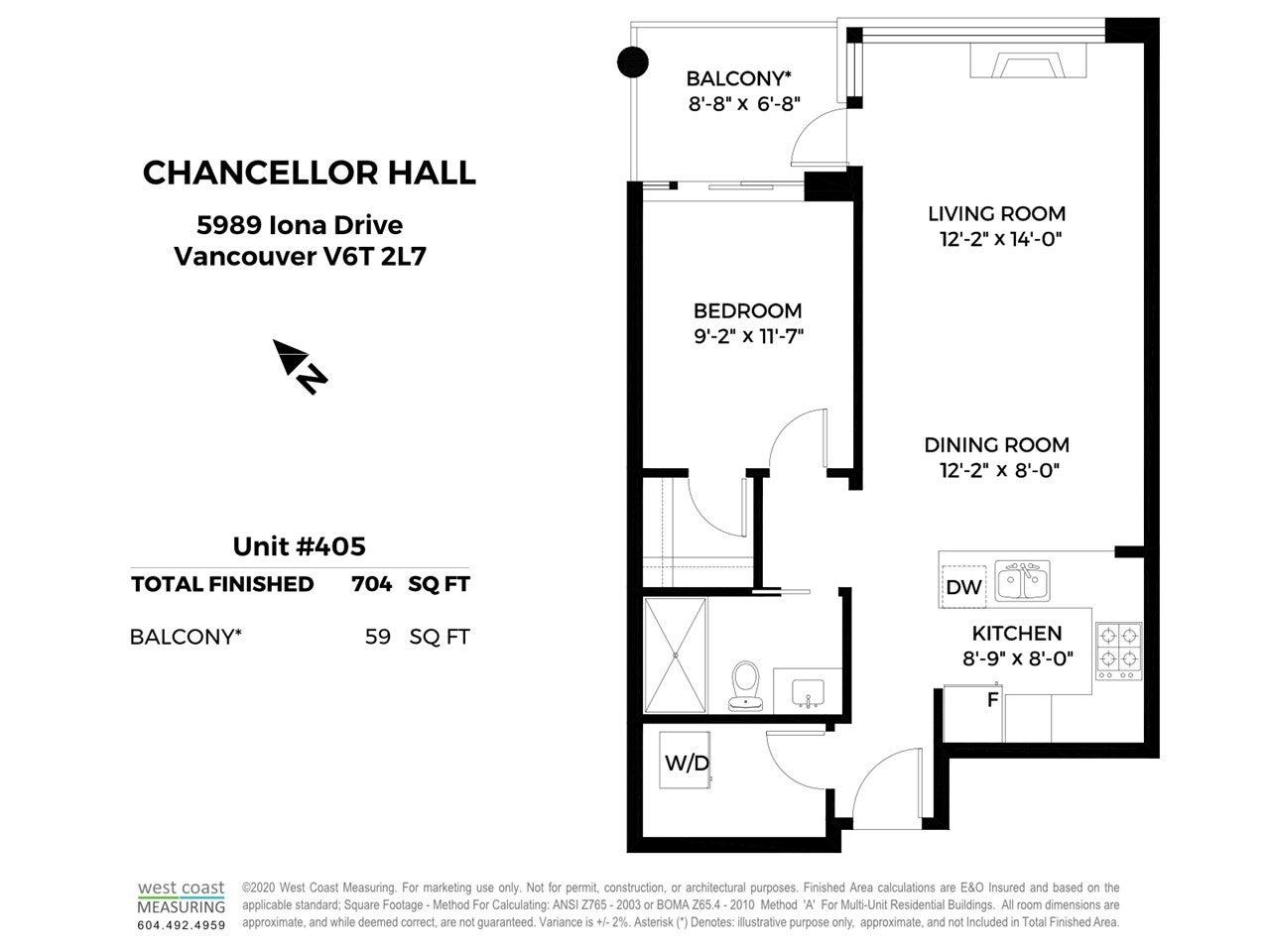 405 5989 IONA DRIVE - University VW Apartment/Condo for sale, 1 Bedroom (R2468918) - #39