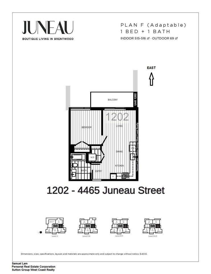 1202 4465 JUNEAU STREET - Brentwood Park Apartment/Condo for sale, 1 Bedroom (R2470011) - #2