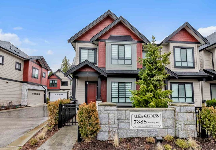 1 7388 RAILWAY AVENUE - Granville Townhouse for sale, 4 Bedrooms (R2474519)