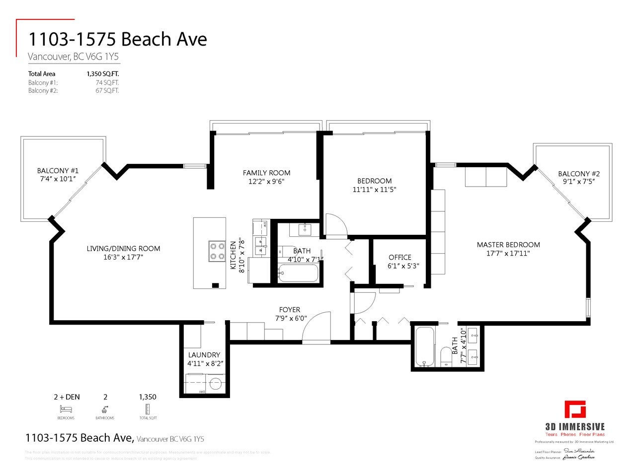 1103 1575 BEACH AVENUE - West End VW Apartment/Condo for sale, 2 Bedrooms (R2479197) - #32