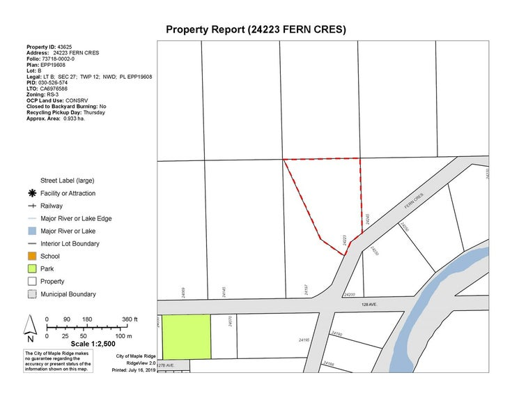 LOT B 24223 FERN CRESCENT - Silver Valley  for sale(R2479417)