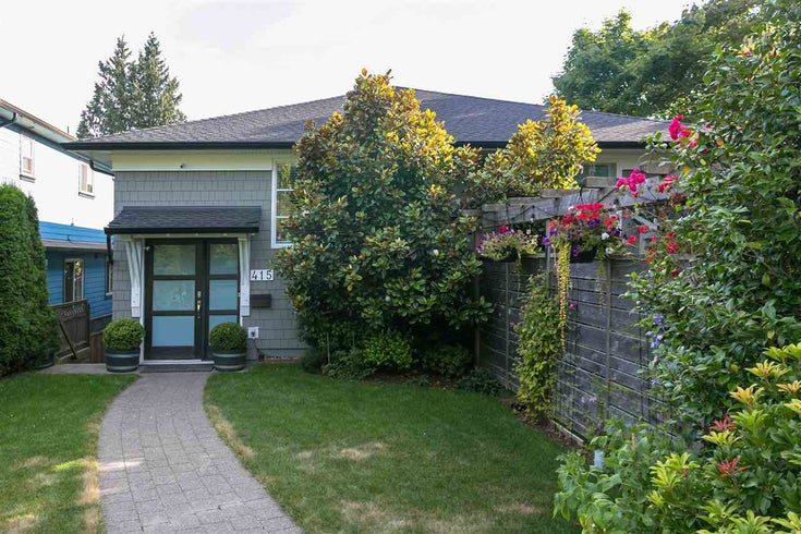 415 E 4TH STREET - Lower Lonsdale 1/2 Duplex for sale, 3 Bedrooms (R2481206)