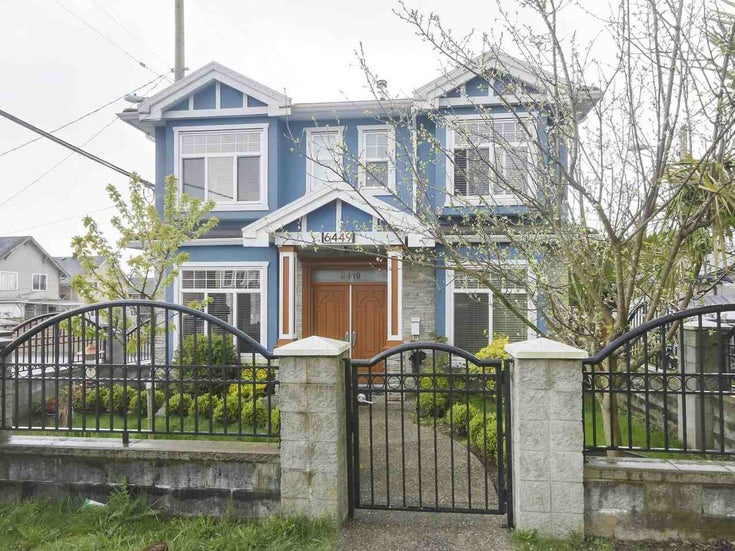 6449 ST. GEORGE STREET - South Vancouver House/Single Family for sale, 5 Bedrooms (R2481833)
