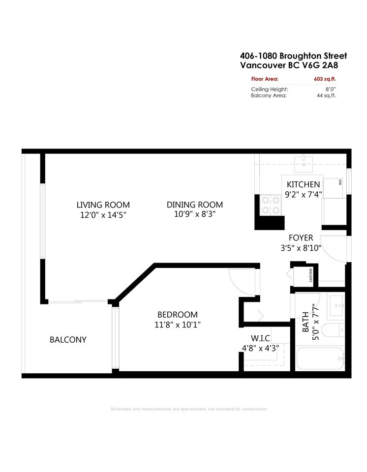 406 1080 BROUGHTON STREET - West End VW Apartment/Condo for sale, 1 Bedroom (R2497773) - #21