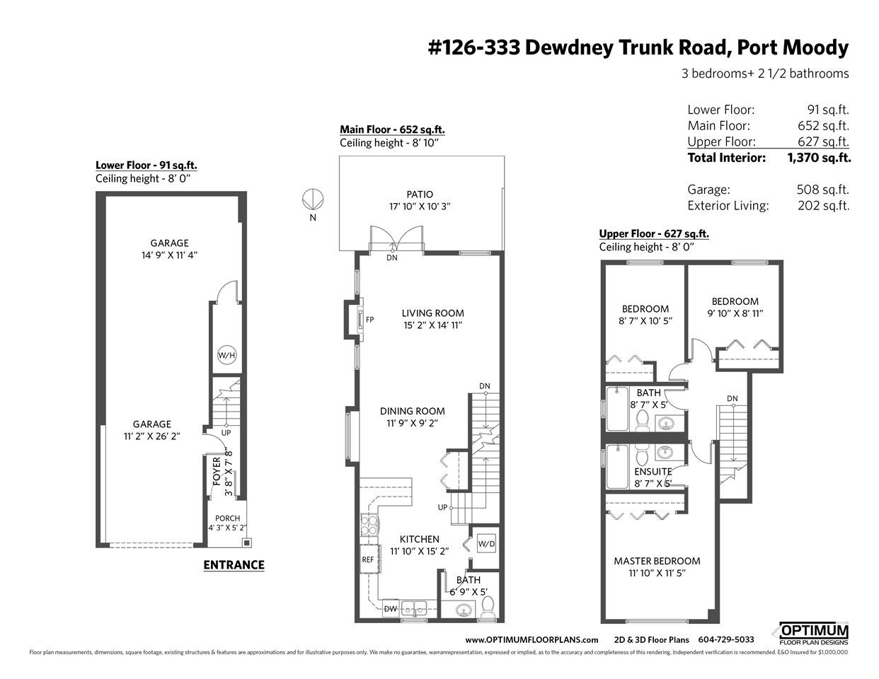 126 3333 DEWDNEY TRUNK ROAD - Port Moody Centre Townhouse for sale, 3 Bedrooms (R2498565) - #22