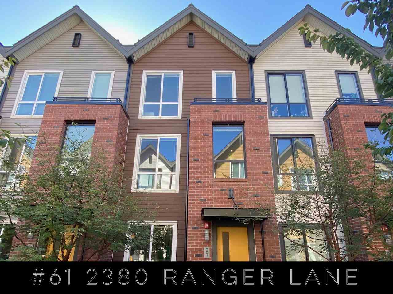 61 2380 RANGER LANE - Riverwood Townhouse for sale, 2 Bedrooms (R2498749) - #1