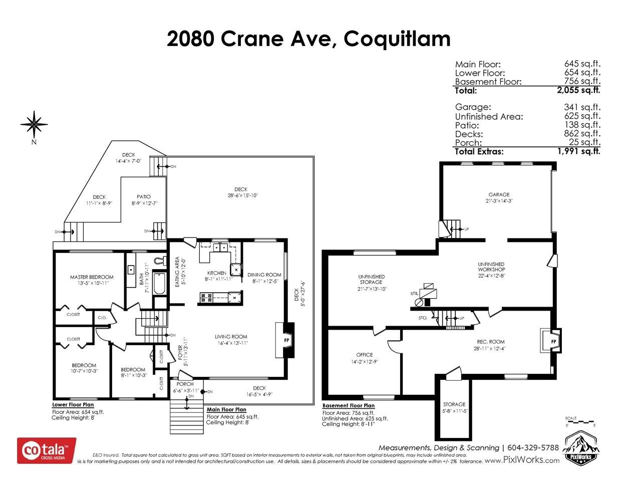2080 CRANE AVENUE - Central Coquitlam House/Single Family for sale, 3 Bedrooms (R2498876) - #2