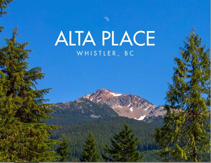 1511 ALTA PLACE - Whistler Creek for sale(R2501660)