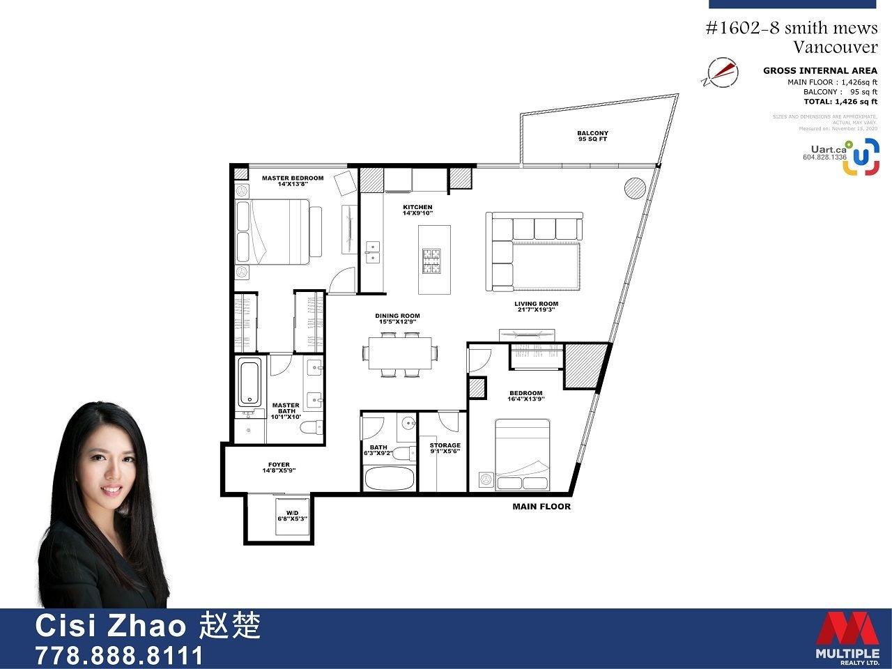 1602 8 SMITHE MEWS - Yaletown Apartment/Condo for sale, 2 Bedrooms (R2518054) - #30