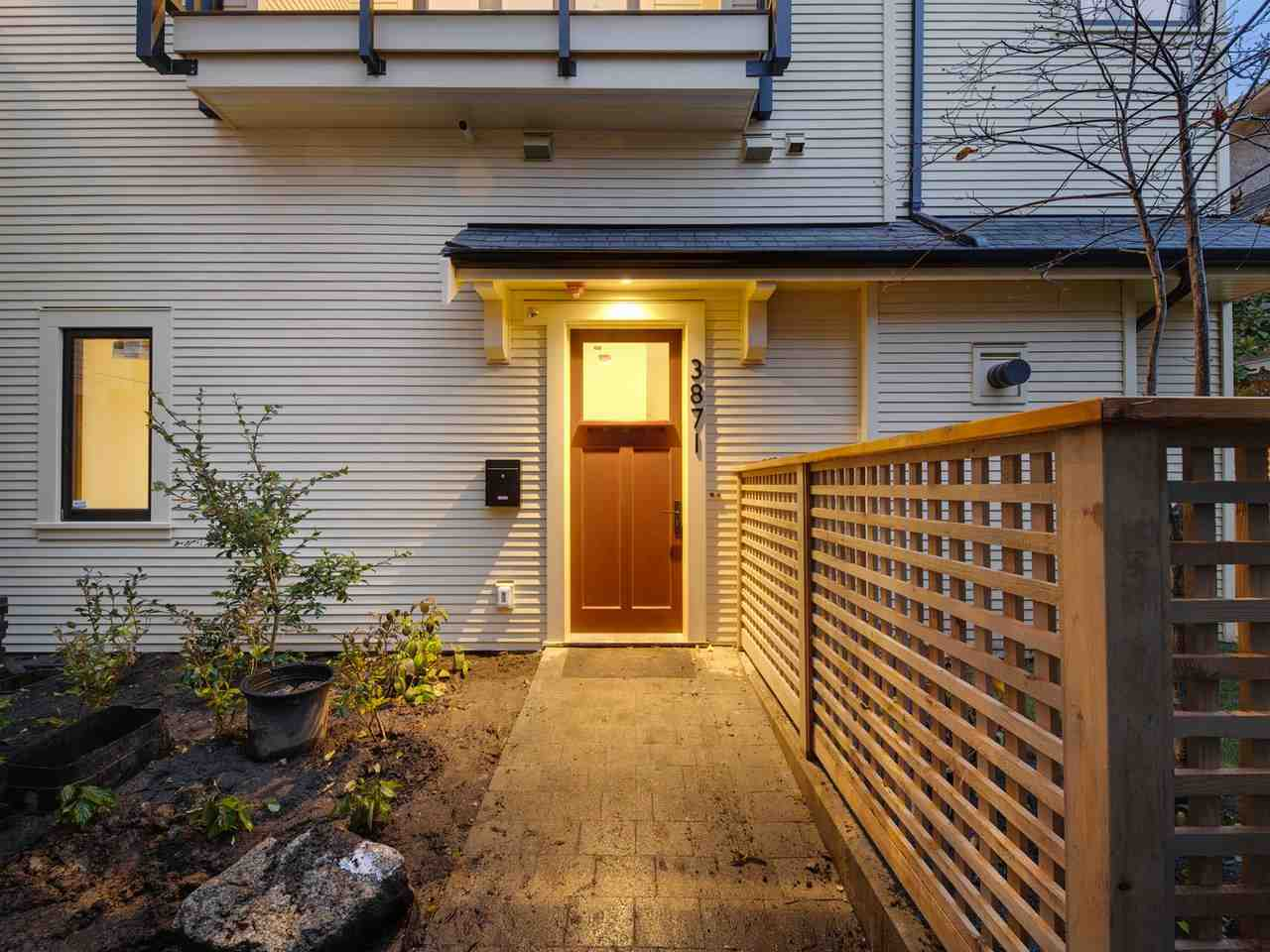 3871 WILLOW STREET - Cambie Townhouse for sale, 2 Bedrooms (R2518239)