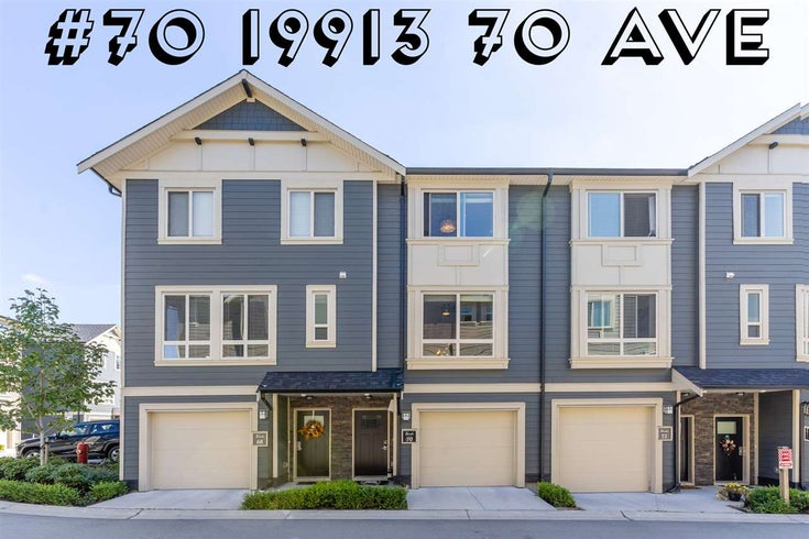 #70 19913 70 AVENUE - Willoughby Heights Townhouse for sale, 3 Bedrooms (R2518240)
