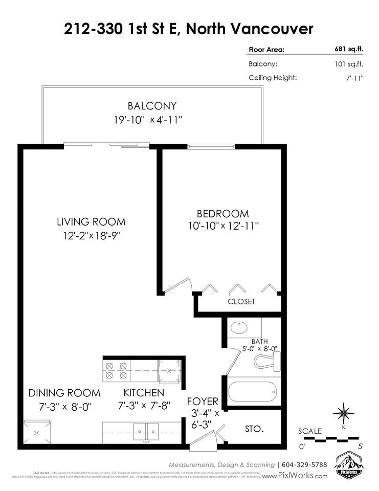 212 330 E 1ST STREET - Lower Lonsdale Apartment/Condo for sale, 1 Bedroom (R2523921) - #16