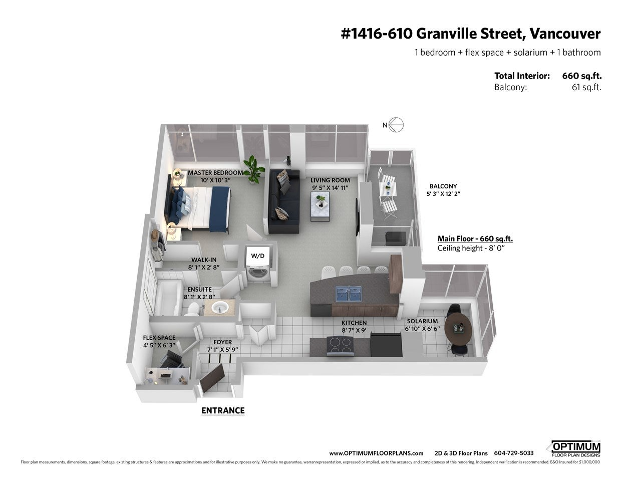 1416 610 GRANVILLE STREET - Downtown VW Apartment/Condo for sale, 1 Bedroom (R2528081) - #23