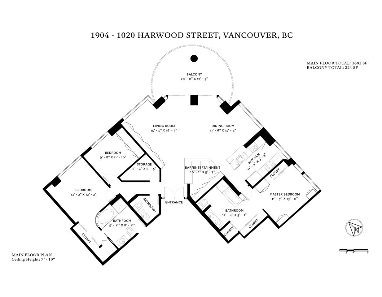 1904 1020 HARWOOD STREET - West End VW Apartment/Condo for sale, 3 Bedrooms (R2528323) - #29