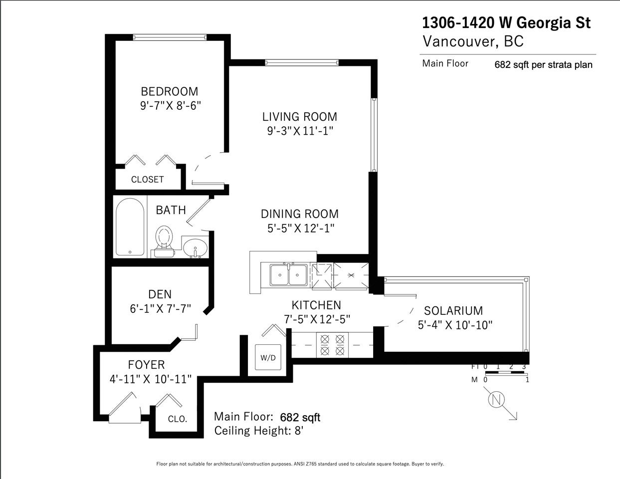 1306 1420 W GEORGIA STREET - West End VW Apartment/Condo for sale, 1 Bedroom (R2528538) - #21