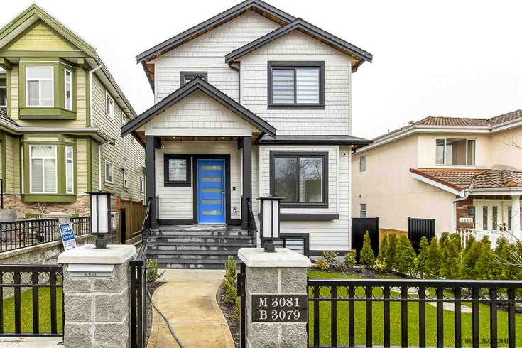 3081 E 4TH AVENUE - Renfrew VE 1/2 Duplex for sale, 3 Bedrooms (R2531329)