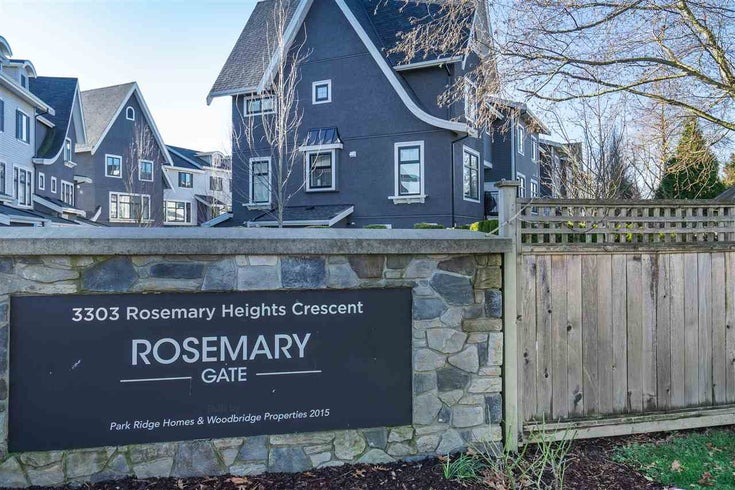6 3303 ROSEMARY HEIGHTS CRESCENT - Morgan Creek Townhouse for sale, 4 Bedrooms (R2531991)