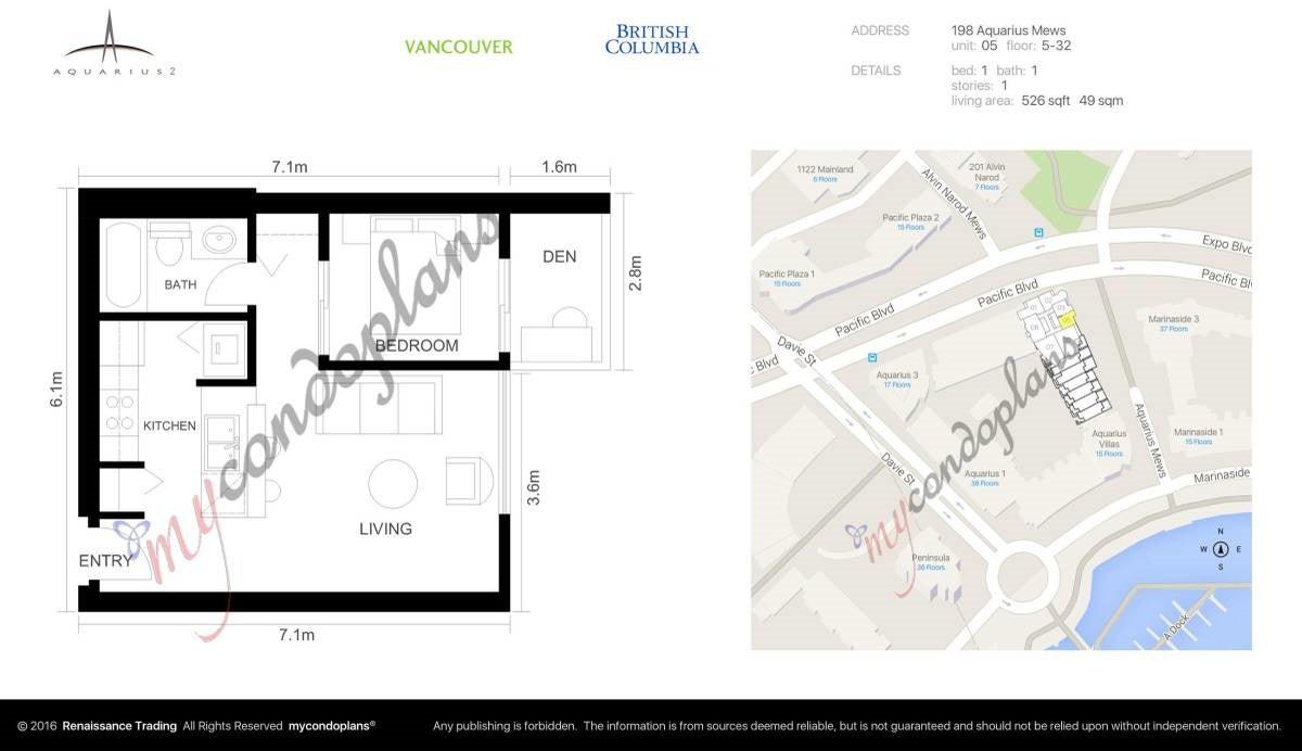 705 198 AQUARIUS MEWS - Yaletown Apartment/Condo for sale, 1 Bedroom (R2539940) - #13