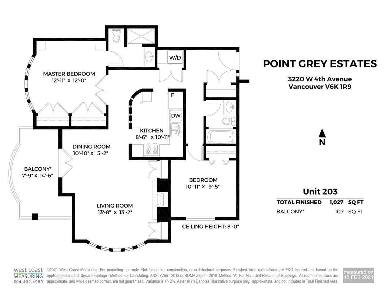203 3220 W 4TH AVENUE - Kitsilano Apartment/Condo for sale, 2 Bedrooms (R2540941) - #36