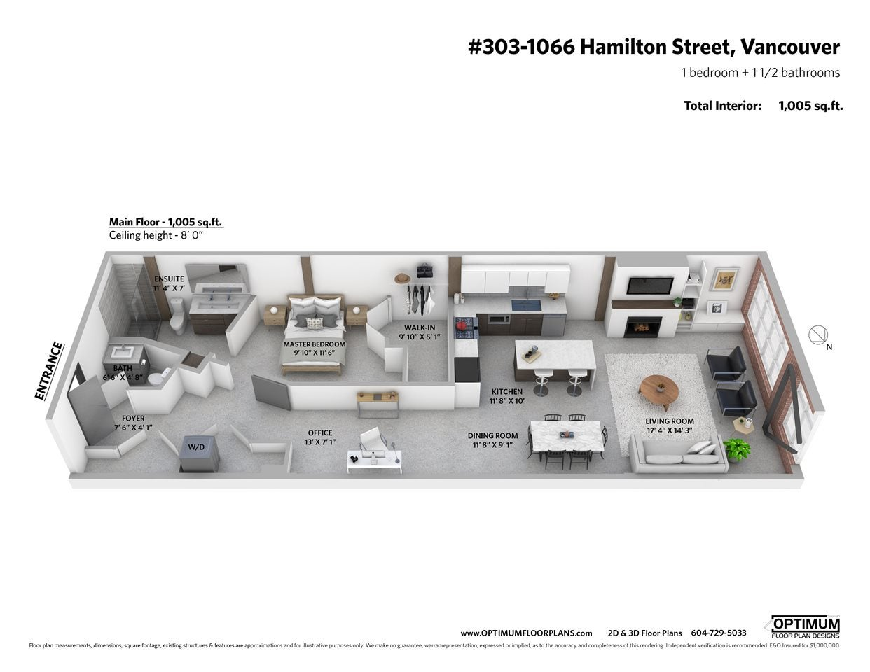 303 1066 HAMILTON STREET - Yaletown Apartment/Condo for sale, 1 Bedroom (R2541419) - #17