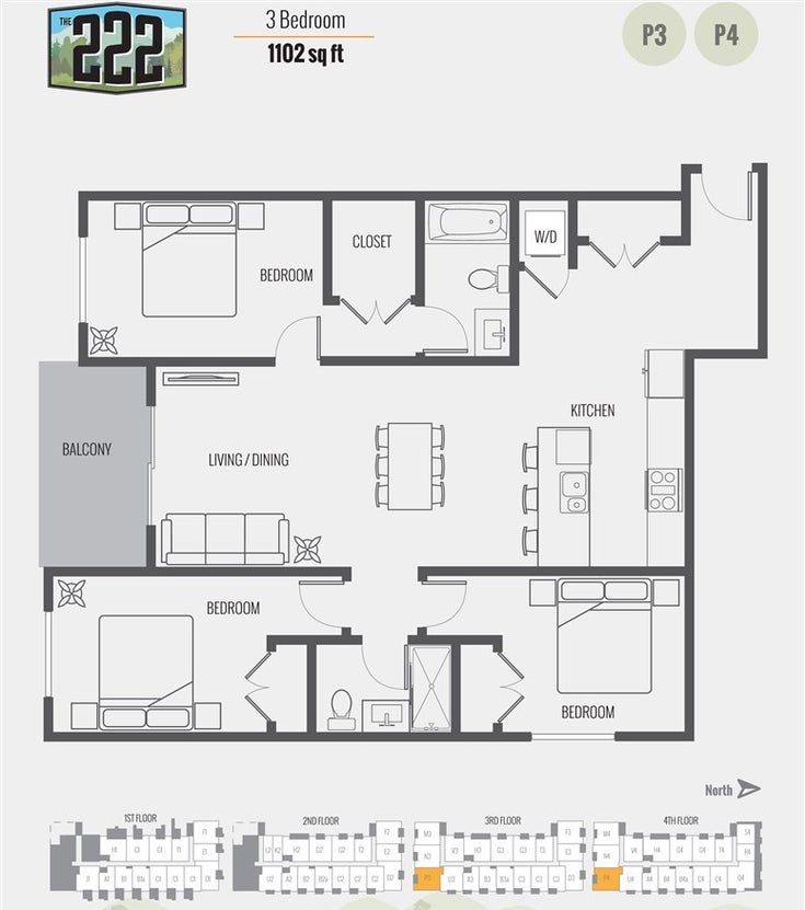 PH16 12320 222 STREET - East Central Apartment/Condo for sale, 3 Bedrooms (R2541496)