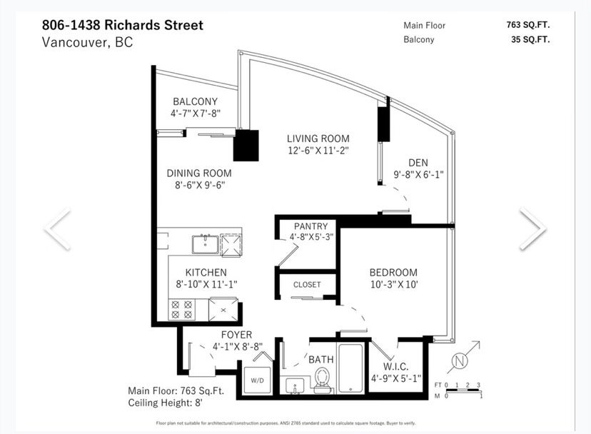 806 1438 RICHARDS STREET - Yaletown Apartment/Condo for sale, 1 Bedroom (R2541755) - #23