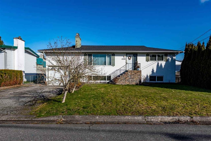45355 WESTVIEW AVENUE - Chilliwack W Young-Well House/Single Family for sale, 4 Bedrooms (R2542911)