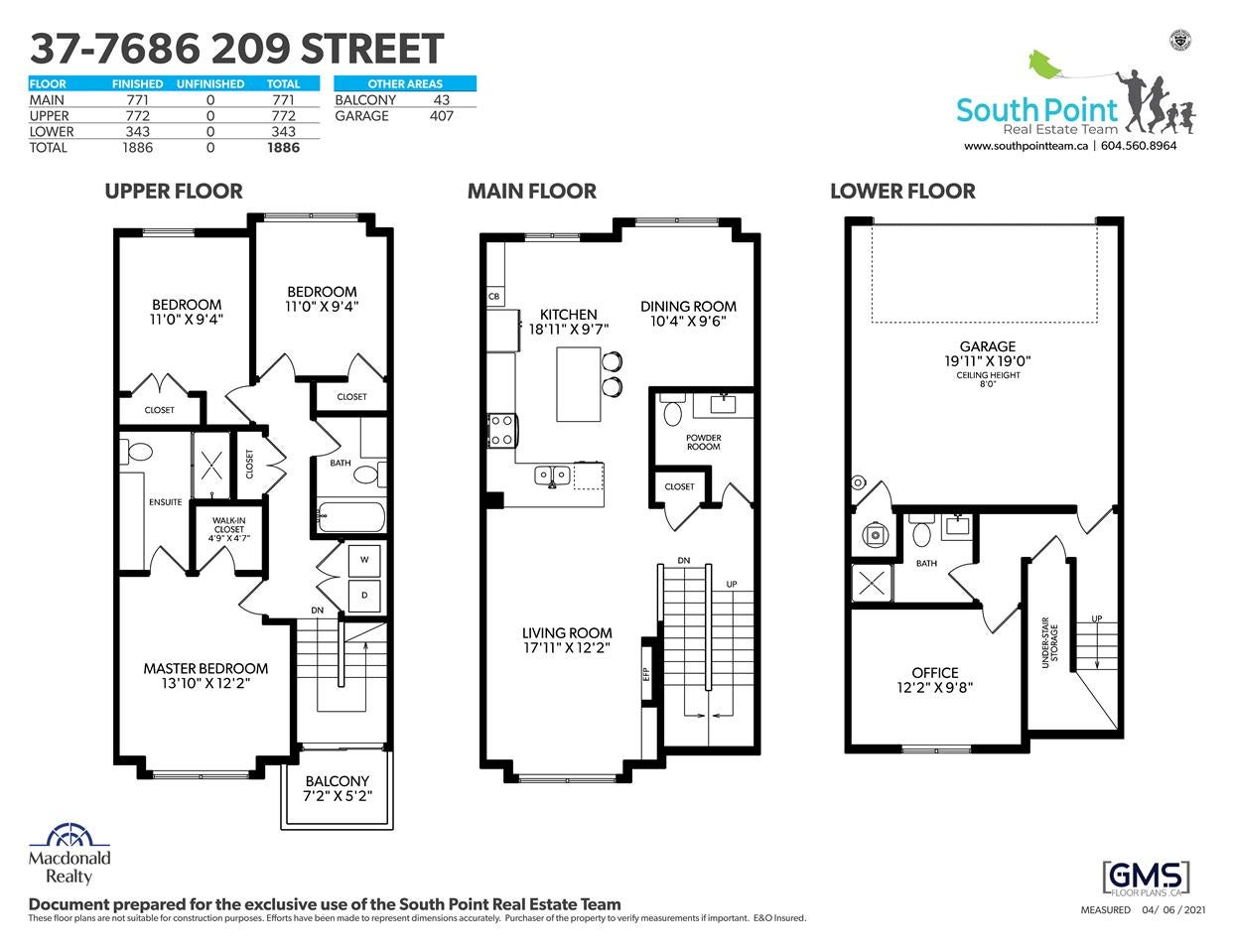37 7686 209 STREET - Willoughby Heights Townhouse for sale, 4 Bedrooms (R2561225) - #26