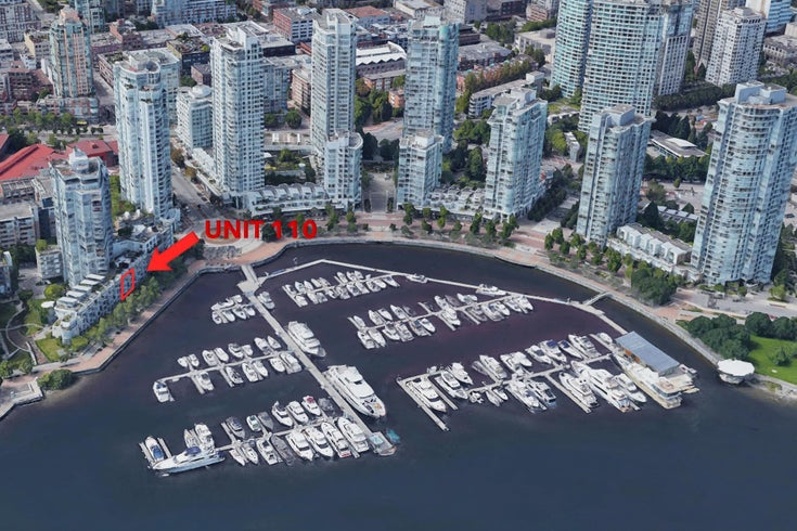 110 1228 MARINASIDE CRESCENT - Yaletown Townhouse for sale, 2 Bedrooms (R2564048)
