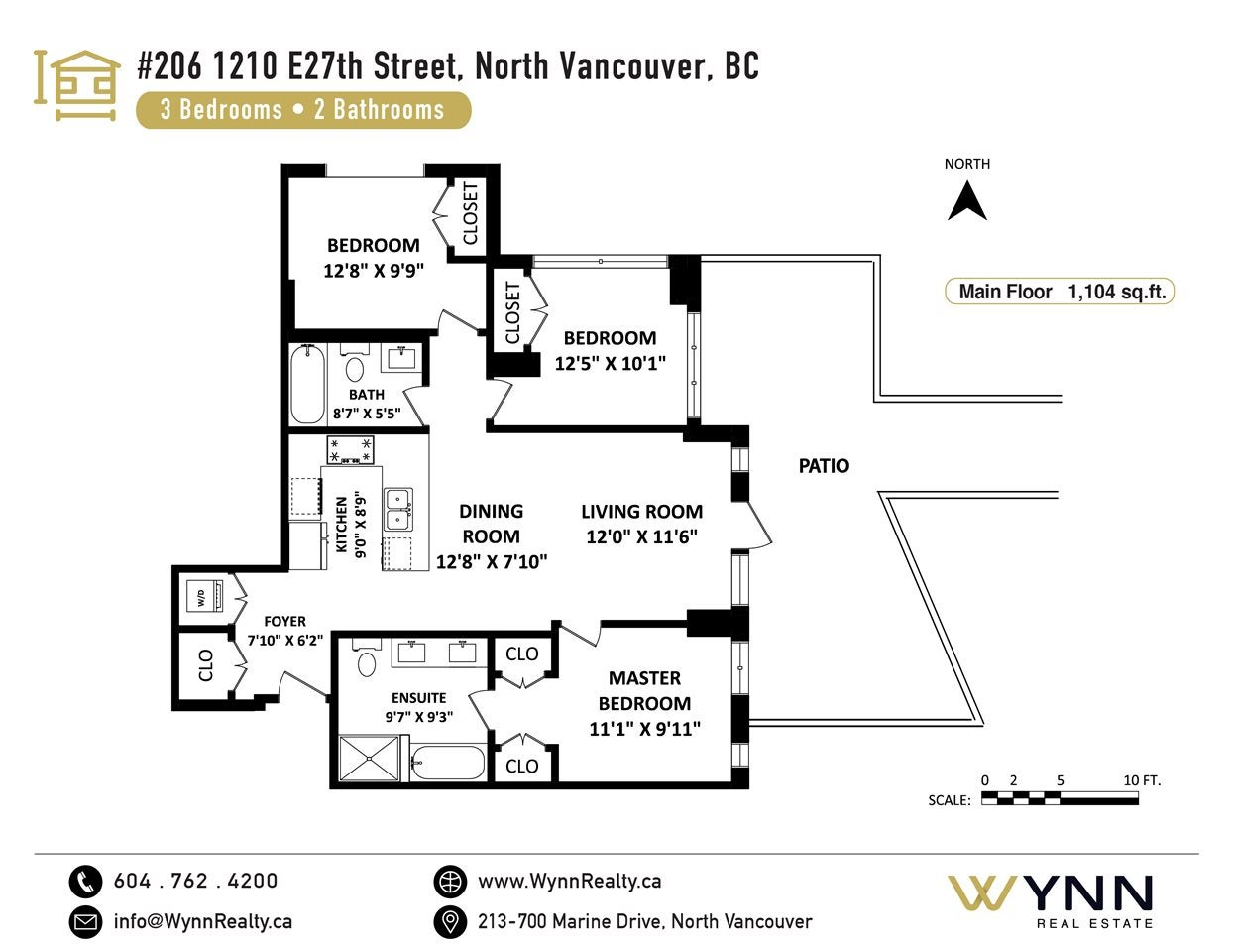 206 1210 E 27TH STREET - Lynn Valley Apartment/Condo for sale, 3 Bedrooms (R2570749) - #22