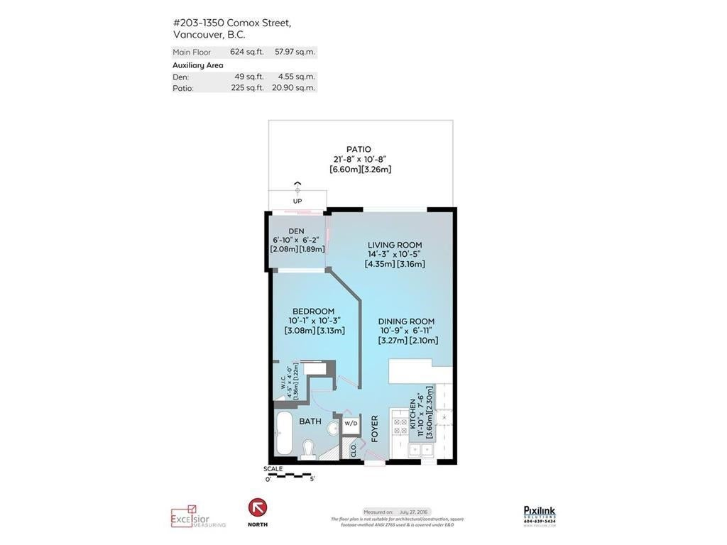 203 1350 COMOX STREET - West End VW Apartment/Condo for sale, 1 Bedroom (R2575389) - #16