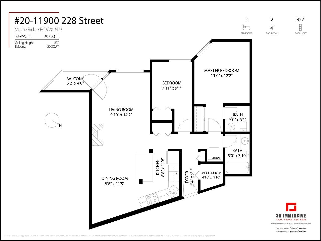 20 11900 228 STREET - East Central Apartment/Condo for sale, 2 Bedrooms (R2575566) - #23