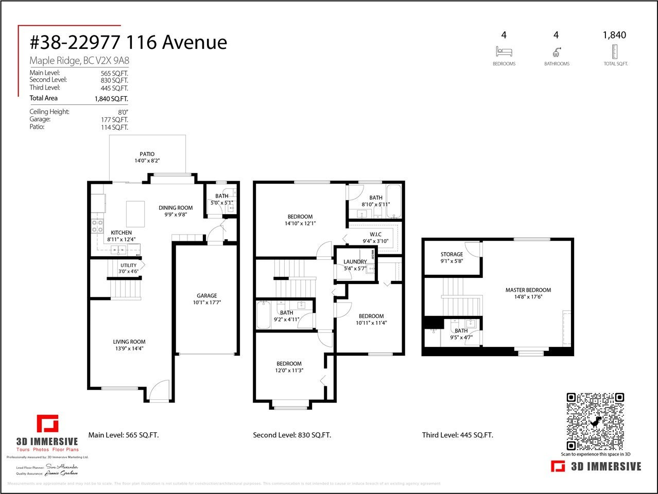 38 22977 116 AVENUE - East Central Townhouse for sale, 4 Bedrooms (R2575613) - #25