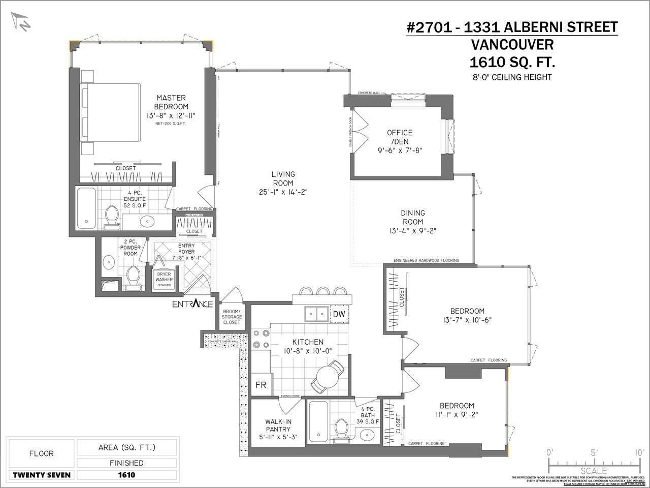 2701 1331 ALBERNI STREET - West End VW Apartment/Condo for sale, 3 Bedrooms (R2576100) - #24
