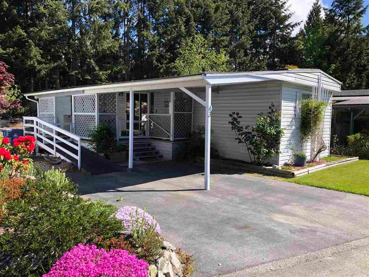 43 4116 BROWNING ROAD - Sechelt District Manufactured for sale, 2 Bedrooms (R2580958)