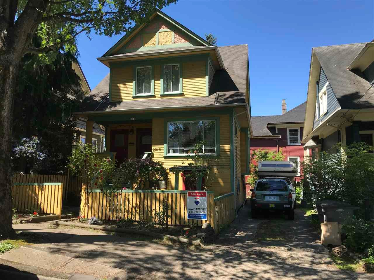 2213 ONTARIO STREET - Mount Pleasant VW House/Single Family for sale, 3 Bedrooms (R2583696)