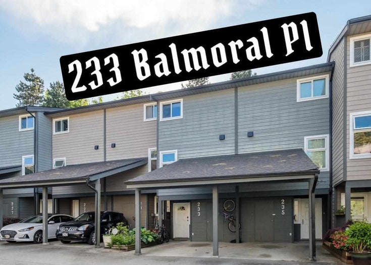 233 BALMORAL PLACE - North Shore Pt Moody Townhouse for sale, 3 Bedrooms (R2585129)