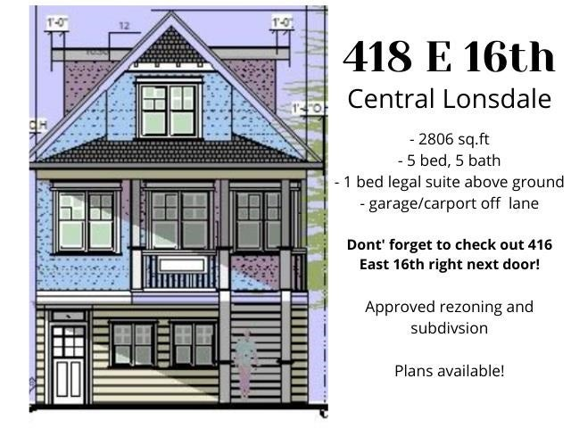 418 E 16TH STREET - Central Lonsdale House/Single Family for sale, 5 Bedrooms (R2590916) - #2