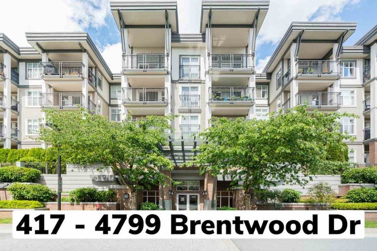 417 4799 BRENTWOOD DRIVE - Brentwood Park Apartment/Condo for sale, 1 Bedroom (R2592803)