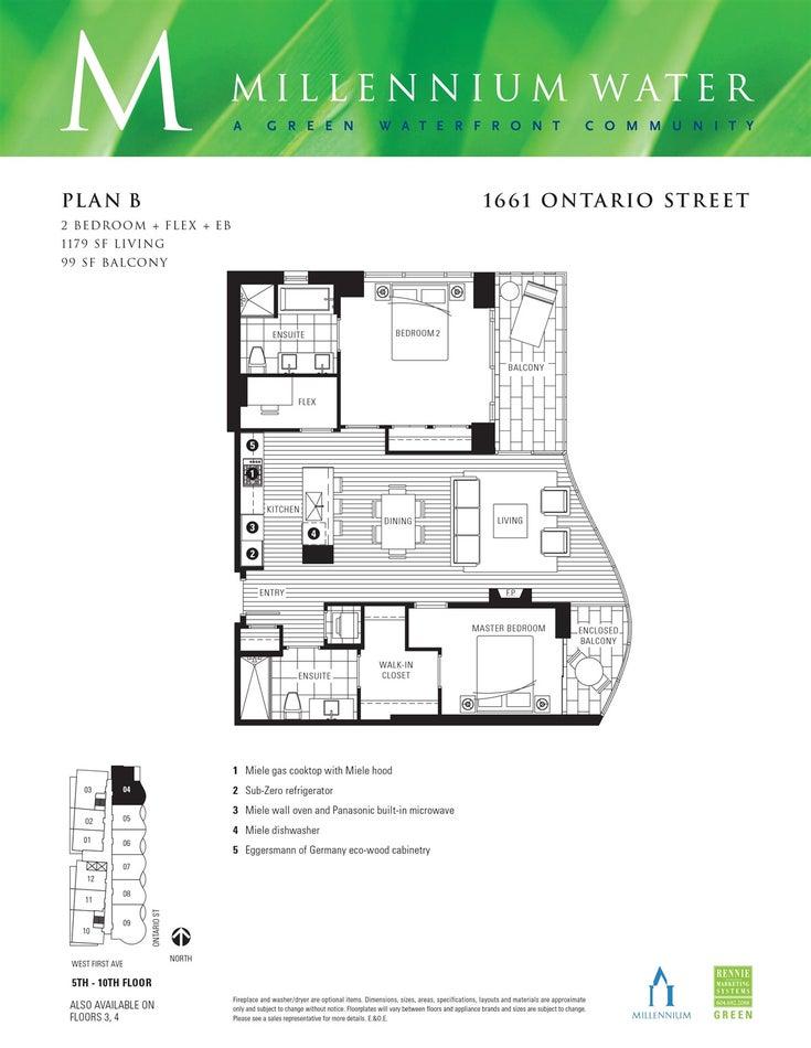504 1661 ONTARIO STREET - False Creek Apartment/Condo for sale, 2 Bedrooms (R2594617)