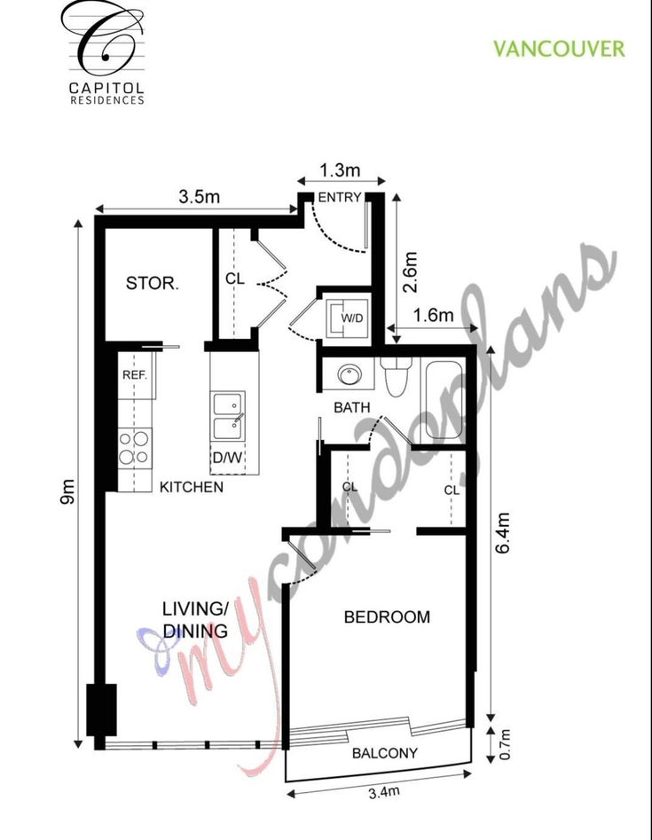 2207 833 SEYMOUR STREET - Downtown VW Apartment/Condo for sale, 1 Bedroom (R2596003)