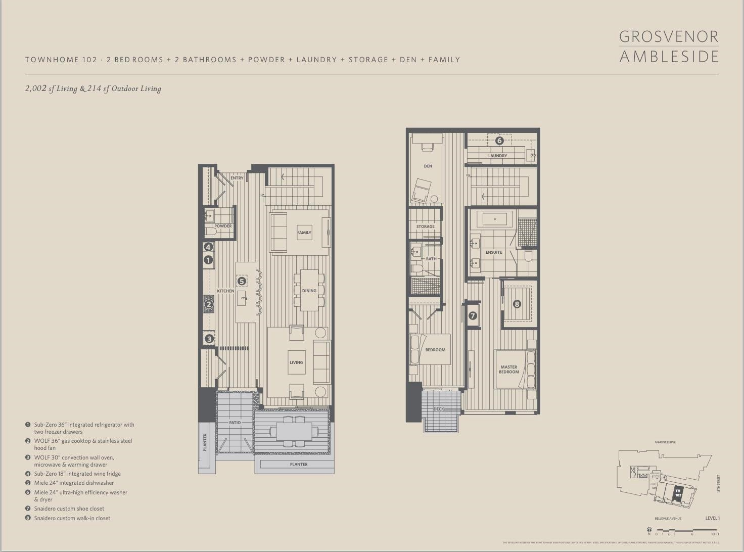 TH102 1327 BELLEVUE AVENUE - Ambleside Townhouse for sale, 2 Bedrooms (R2596338) - #3