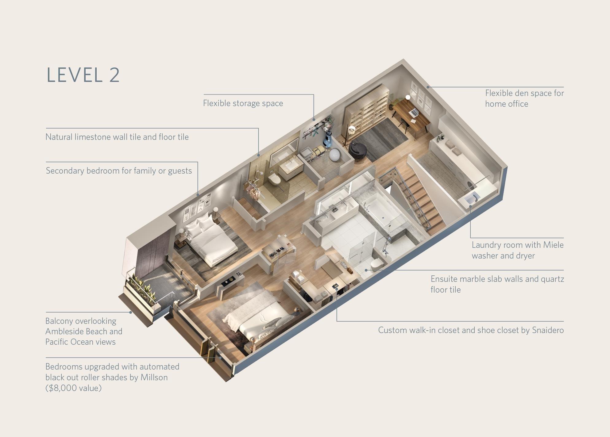 TH102 1327 BELLEVUE AVENUE - Ambleside Townhouse for sale, 2 Bedrooms (R2596338) - #36